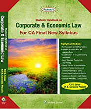 Students Handbook on Corporate & Economic Law: For CA Final New Syll