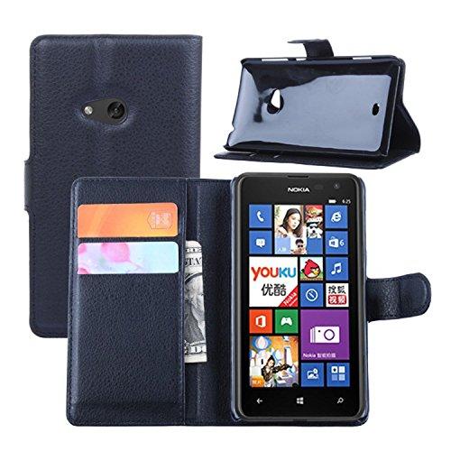 Ycloud Custodia Cover per Nokia Lumia 625 Portafoglio Tasca Book Folding Custodia in Pelle con Supporto di Stand Cover Case Custodia Pelle con Stilo Penna Nero