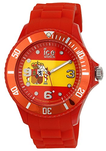 ICE-Watch World Men's Quartz Watch with Multicolour Dial Analogue Display and Red Silicone Bracelet WO.ES.B.S.12