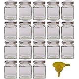 Viva Haushaltswaren Barattolo di marmellata/spezie in Vetro, Vetro, Deckel Silber, 106ml