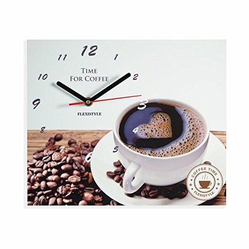 Moderne Küche Wanduhr Kaffee Liebe, rechteckig, wanduhr deko, 25 x 30 cm