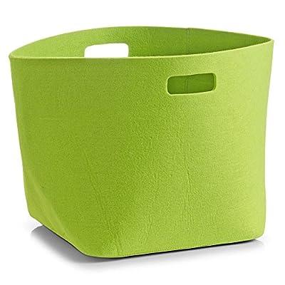 Korb eckig - grün - 32 x 32 x 32 cm - Filz - Aufbewahrung - Filzkörbchen - Brotkorb - Obstkorb - Utensilienkorb aus Filz von Zeller auf Du und dein Garten