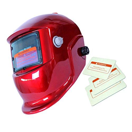 0948b8ea10736d Générique, Casque de Soudage Assombrissement Automatique Solaire Masque de  Soudeur Rouge. AUDEW Masque de Soudure Cagoule ...