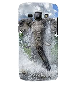 ColourCraft Elephant Design Back Case Cover for SAMSUNG GALAXY J1