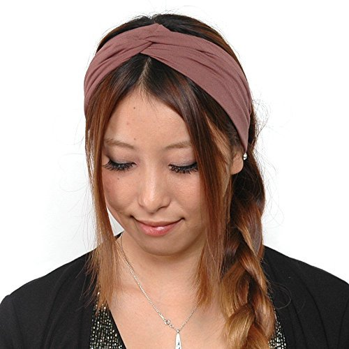 Casualbox Elastic Turban Headband Mens Womens Hair Band Sports Yoga Headband Japanese...