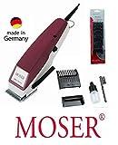 Rotschopf24 Edition: M O S E R Profiline Haarschneider, ab 0.4mm, 6 EXTRA Aufsteckkämme von 3mm - 25mm. 42224