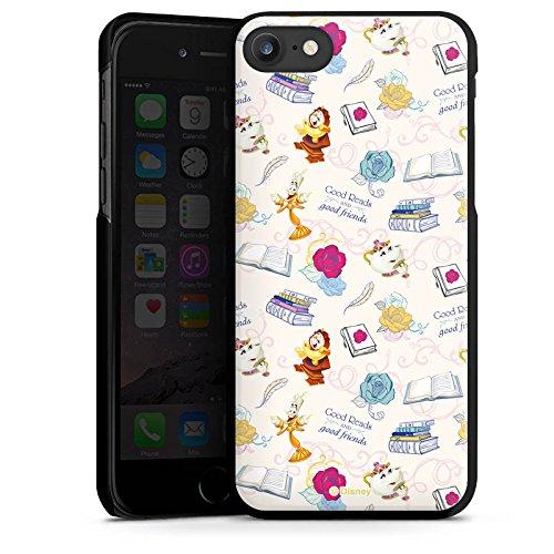 Apple iPhone X Silikon Hülle Case Schutzhülle Die Schöne und das Biest Disney Madame Pottine Von Unruh Lumière Muster Hard Case schwarz