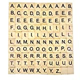 Magideal 100pcs A to Z Wood Scrabble Til...
