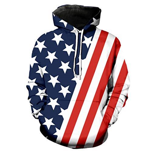 B-Pertand Schräge Flagge amerikanischer Flagge Mode Neutrales Kapuzenpulli EUR GRÖSSE as The...