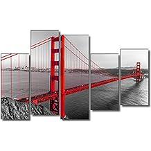 DekoArte 126 - Cuadro moderno, Puente San Francisco, 150 x 100 cm