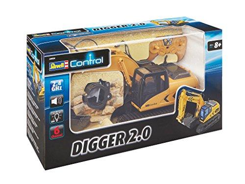 RC Auto kaufen Baufahrzeug Bild 5: Ferngesteuerter Revell RC Kettenbagger inkl. Sortiergreifer mit 6 Kanälen im Maßstab 1:16, 2.4GHz*