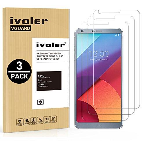 [3 Unidades] LG G6 Protector de Pantalla, iVoler Protector de Pantalla de Vidrio Templado Cristal Protector para LG G6 -Dureza de Grado 9H, Espesor 0,30 mm, 2.5D Round Edge-[Ultra-trasparente] [Anti-golpe] [Ajuste Perfecto] [No hay Burbujas]- Garantía Incondicional de 18 Meses