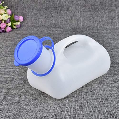 1200 ml Urinal für Männer, Inkontinenzflasche mit langem Hals, durchsichtiger Kunststoff, medizinische Ausrüstung, Urinsammelgerät, auslaufsicheres Gerät, tragbare Urinalflasche, Schnappdeckel