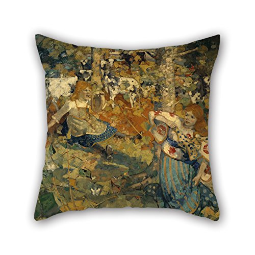 Loveloveu Pillow Cases Of Oil Painting Edward Atkinson Hornel - Summer 18 X 18 Inches / 45 By 45 Cm,best Fit For Floor,teens Girls,kids Girls,dining Room,teens 2 Sides