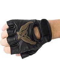 Handschuhe für Biker Fingerlos echt Leder Adler