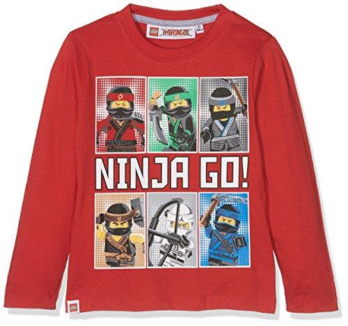 Lego Ninjago Jungen Langarmshirt - rot - 104 (Rot Ninjago)