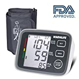 #5: WARMLIFE Accurate Automatic Upper Arm Blood Pressure Monitor Digital BP Machine Pulse Rate Monitoring Meter with 8.8-14.1in Cuff Kit,180 Records Two Users,Display&Talking WireWireless- FDA Approved