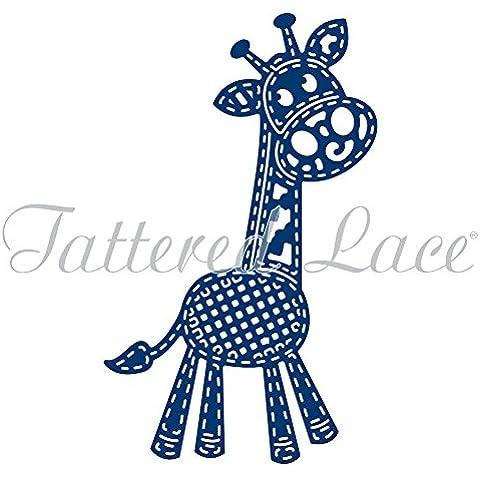 Tattered Lace Patchwork Giraffe-Fustella in metallo, design di Stephanie Weightman