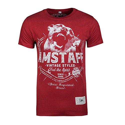 Amstaff Vintage Neres T-Shirt - Bordeaux XL
