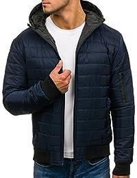 BOLF giacca mezza stagione – Con cappuccio – Chiusa a zip – Mimetica – Di  moda 25e78fdb7f0