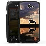 DeinDesign HTC One S Hülle Case Handyhülle Horse Pferd Sonnenuntergang