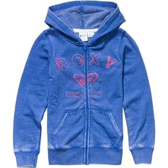 Roxy - Girls Smile Lines Logo Zip-Up Hoodie, 8, Corn Flower