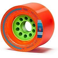 Orangatang Kegel 80 mm 80a Downhill Longboard Skateboard Cruising Wheels w/ Loaded Jehu V2 bearings (Orange, Set of 4)