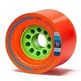 Orangatang Kegel 80 mm 80a Downhill Longboard Skateboard Cruising Wheels (Orange, Set of 4)