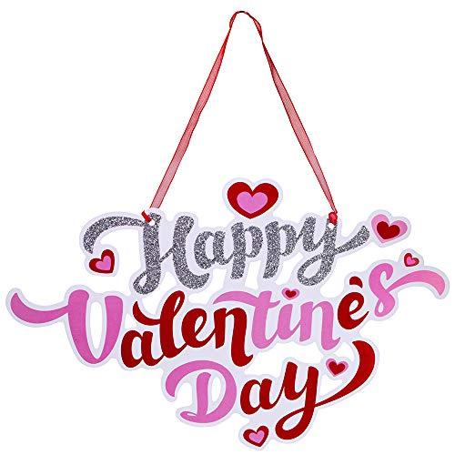 k Valentinstag Türschilder Türhänger Happy Valentine's Day Urlaub Türschild Fenster Wandschild Willkommen Schilder für Valentinstag Party Dekoration ()