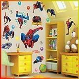 Spiderman - Autocollant Mural Décor Art Chambre Enfant Crèche Maternelle