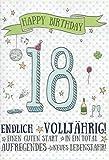 Geburtstagskarte Zum 18. Endlich Volljährig - Einen guten Start DEPLM001