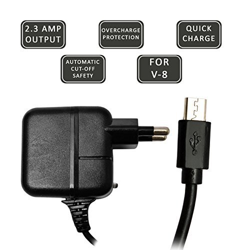 ECell Premium 2.3 AMP OUTPUT [ Overcharge Protection/Automatic Cut-Off Safety] High Speed OG Charger compatible For Samsung Champ C3303  - Black  available at amazon for Rs.267