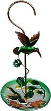 Wonderland Hanging green bird with glass feeder (Home & Garden Decor, Bird feeder, Gifting)