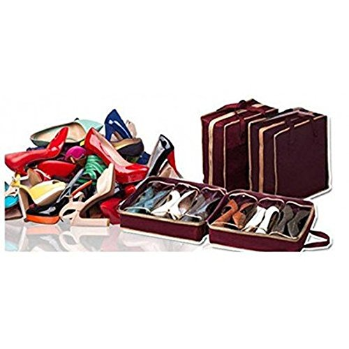 Shopee Shoe Bag The Perfect Shoe Rack Organizer Can Keep Your Shoes & Footwear- Maroon