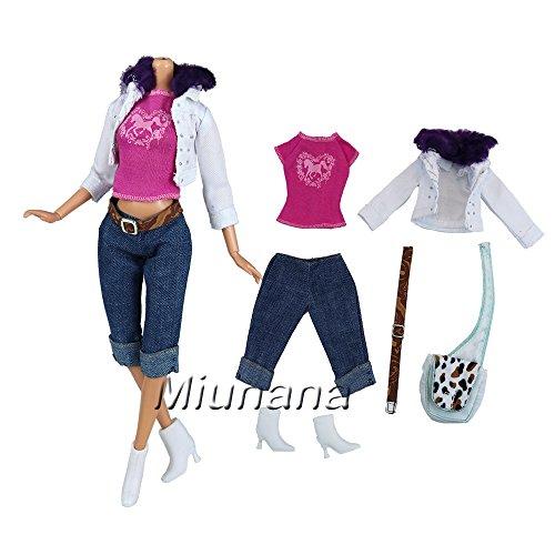 miunana-set-kleidung-jacke-t-shirt-jeans-hose-schuhe-gurtel-tasche-fur-barbie-puppen-doll