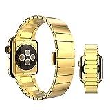 OKCS Edelstahl Armband für Apple Watch Series 1, Series 2, Edition 42 mm OKCS - Butterfly...