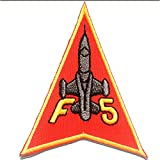 Parches - F5 Army aviación - rojo - 6.7x8.5cm - by catch-the-patch® termoadhesivos bordados aplique para ropa
