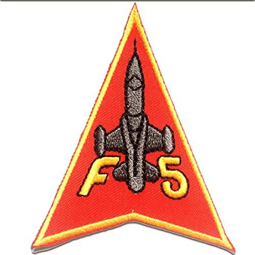 Toppe termoadesive - f5 army aeronautica militare - rosso - 6.7x8.5cm - patch toppa ricamate applicazioni ricamata da cucire adesive