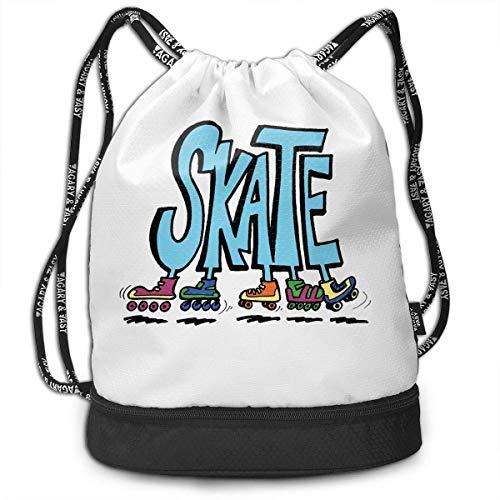 Sporttaschen Turnbeutel Roller Skating Funny Print Drawstring Bags - Simple Bundle Pocket Backpack Fashion Samsonite Laptop Roller