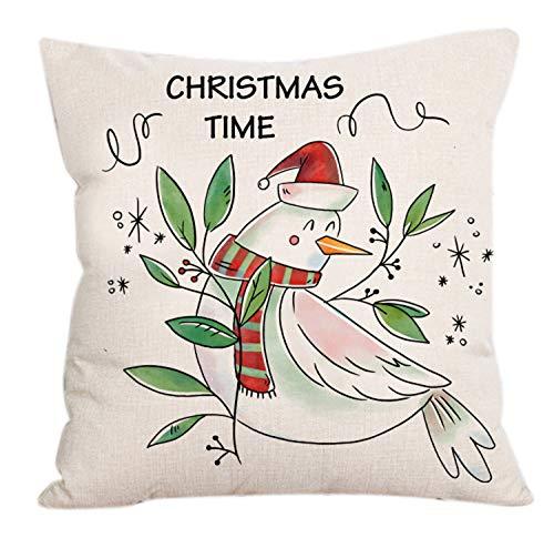 LILICAT Joyeux Noël Taie d'oreiller Linen Canapé Housse de Coussin Décor à la Maison Oreiller Core