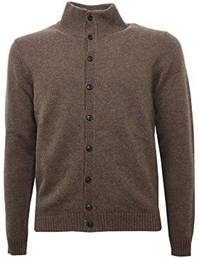 B5234 maglione uomo DONDUP GULLA lana marrone cardigan sweater men