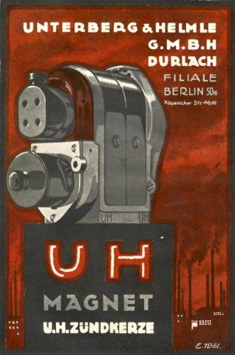 UH MAGNET & ZÜNDKERZE Plakat A2 (42x60cm) (Flugzeug Zündkerzen)