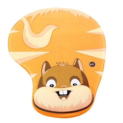 TUKA Handgelenkauflage Mouse pad Ergonomische, mit Gel Gefüllte Handgelenkunterlage, Tier Motiv Gel Mauspad Handauflage, mit Lustigem Cartoon Motiv, TKC5100 largesquirrel