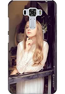AMEZ designer printed 3d premium high quality back case cover for Asus Zenfone 3 Laser (Windowsill girl)