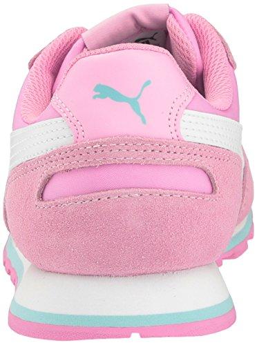 Puma ST Runner NL Jr garçons Daim Baskets Prism Pink-Puma White