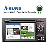 A-Sure Android 7.1.2 Autoradio GPS Auto Navigation Mirrorlink 1024*600 Wifi WLAN Bluetooth 4G OBD DAB DVB-T2 USB SD 2 Din Navi Touchscreen Lenkradsteuerung Für Audi A4 S4 RS4 B9 B7 SEAT EXEO SEA4SJ
