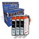 Alaskaprint 3X Druckerpatronen Kompatibel zu HP 364 XL 364xl Schwarz BK Black für HP Photosmart 5510 5511 5512 5514 5515 5520 5522 5524 6510 6520 6512 6515
