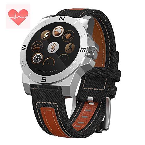 CHICHENG Smart Watch Fitness Tracker, Sport im Freien wasserdichte Test Herzfrequenz Barometer Höhenmesser, für Android und iOS,02