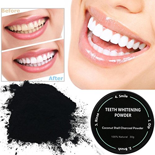Image result for active charcoal toothpaste before and after