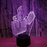 Accendini Fornitore Di Energia Elettrica Luci Colorate 3D Telecomando Colorato Luci Colorate 3D Piccola Pubblicità Usb Led Lampada 3D Lbonb